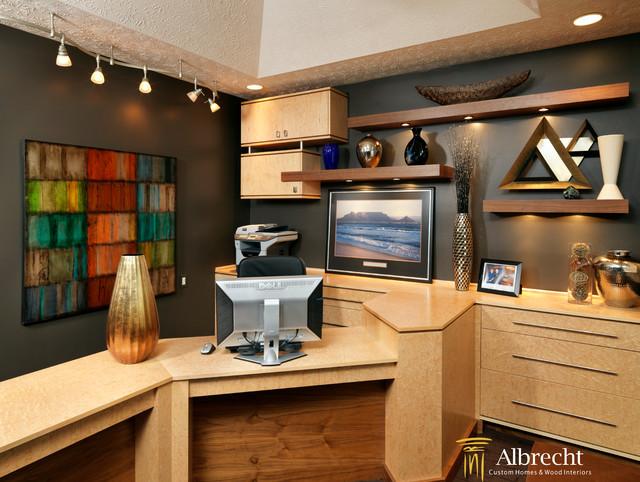 dens offices contemporary home office cincinnati. Black Bedroom Furniture Sets. Home Design Ideas