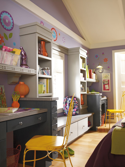 Diamond Cabinetry eclectic-home-office