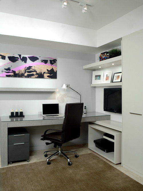 home office ideas 25 Inspirational Home Office Ideas and Color Schemes modern home office