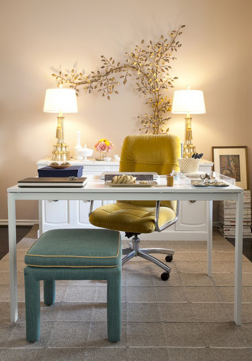 Contemporary Home Office neutral color palette