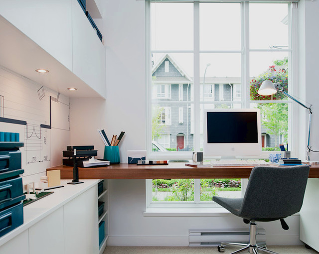 Dominion model home modern home office vancouver for Office design houzz