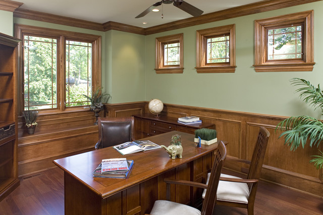 Downers Grove Residence craftsman-home-office