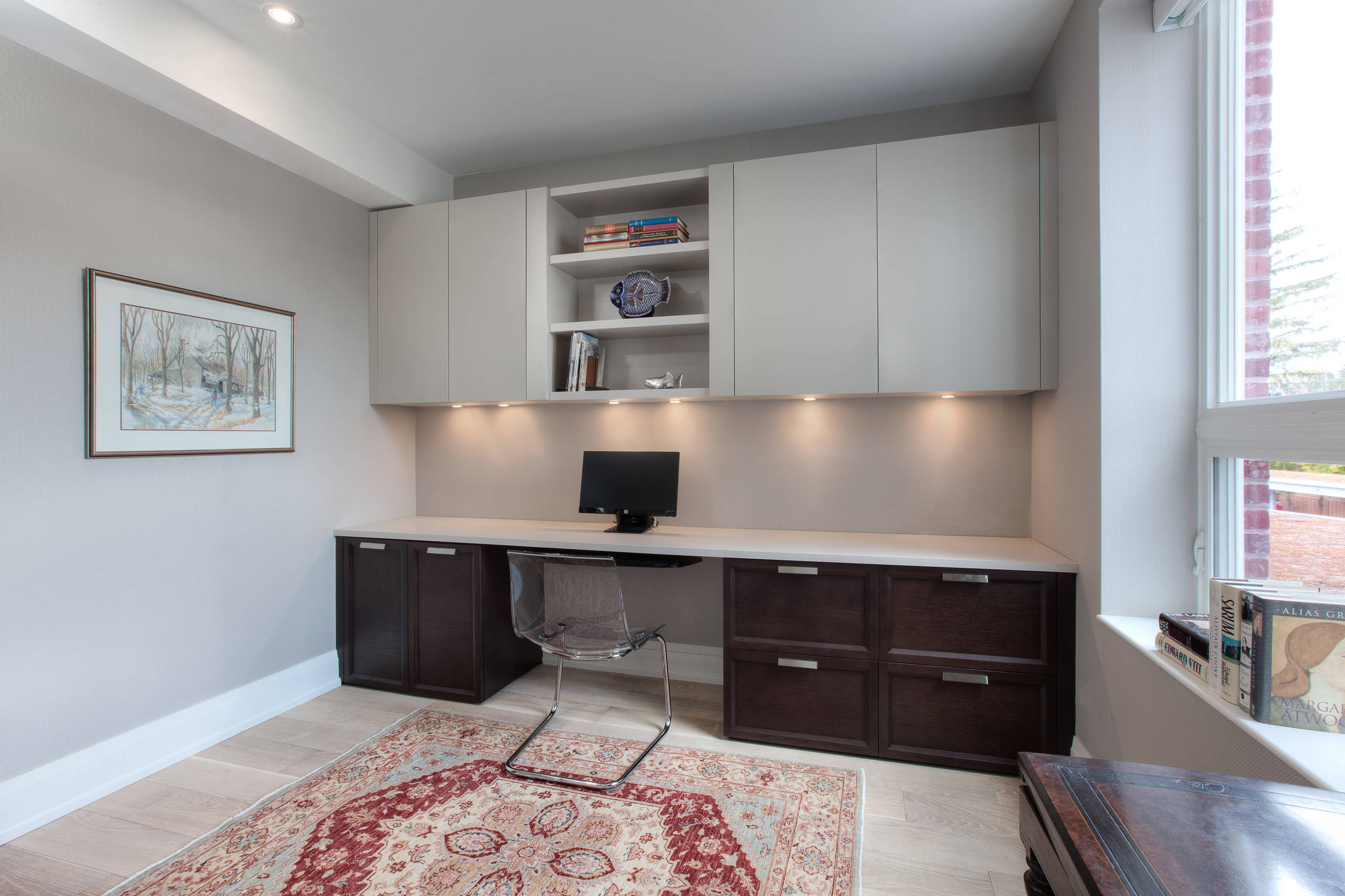 Downsizing to a loft - home office
