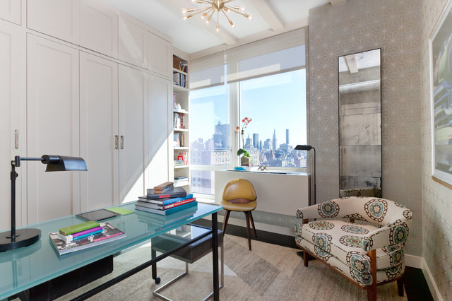 Drew McGukin Interiors - Chelsea Apartment contemporary home office