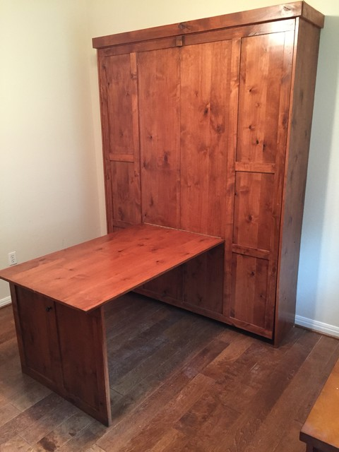 Drop Down Desk On A Vertical Queen Suite Dreams Murphy Bed