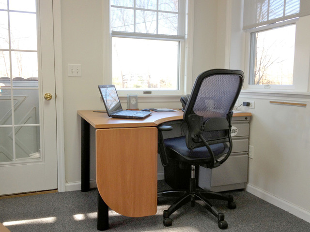 Drop Leaf Desk, Leaf Down contemporary home office
