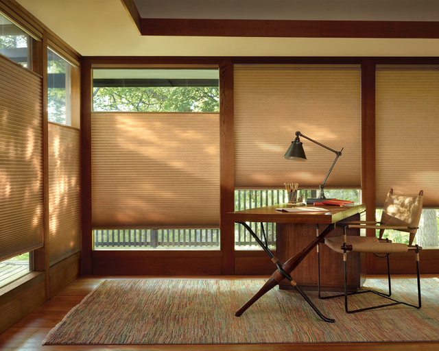 Duette Honeycomb Shades Craftsman Home Office
