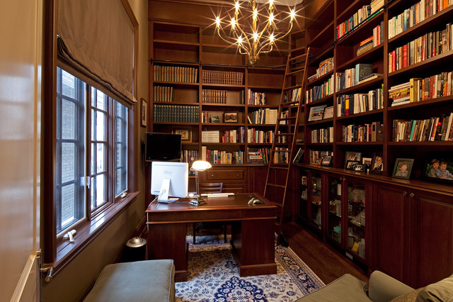 Contemporary Traditional Home Office Dunvegan Avenue  Traditionalhomeofficeandlibrary Traditional Design Traditional Home Office