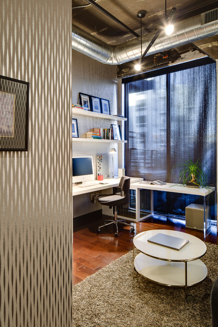 dwelling designs warehouse district loft industrial home office