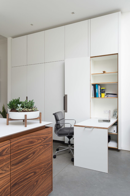 Ealing common contemporary home office library for Kitchen ideas ealing