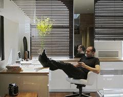 East Village Studio modern-home-office
