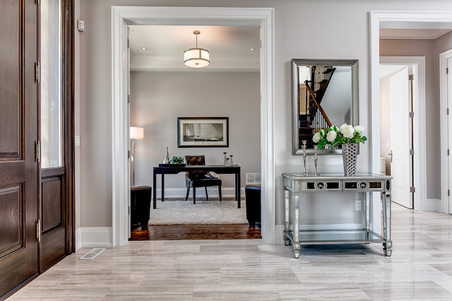 Inspiration for a transitional home office remodel in Toronto