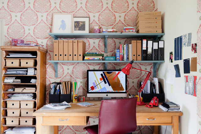 Eclectic Desk Creative Thinking Space Eclectic Home
