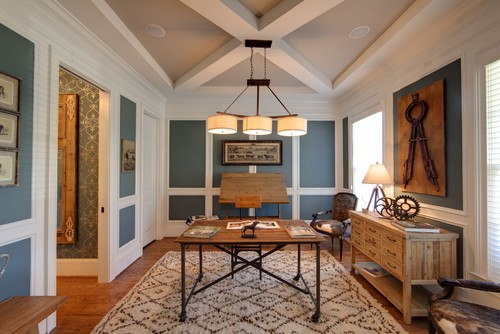 Lovely Eclectic Home Office By Fort Mill Interior Designers U0026 Decorators Kerri  Robusto Interiors