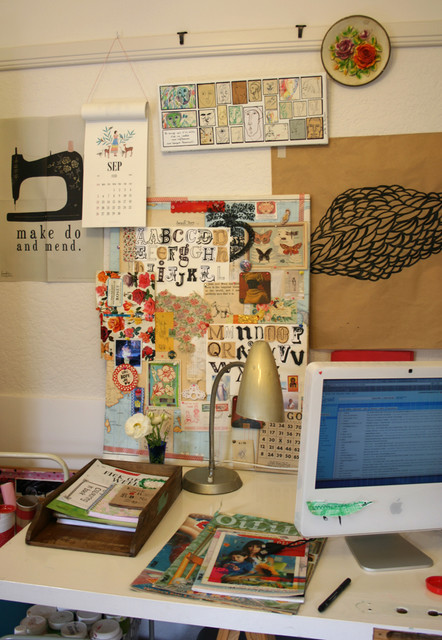 Eclectic Home Office eclectic-home-office