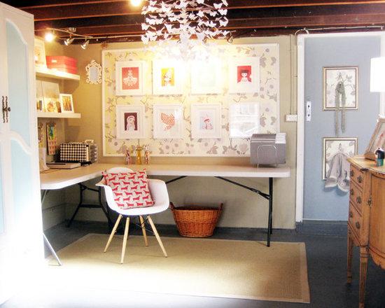 basement office home design photos