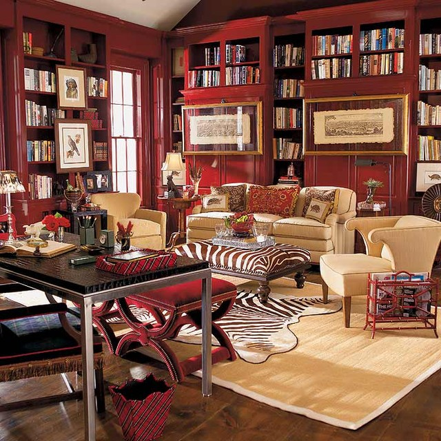 Study Room Color Ideas: Eclectic Study