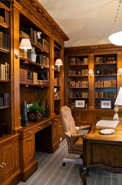 Elegant home in boston 39 s back bay traditional home office boston by south shore millwork - Elegant office home design ...
