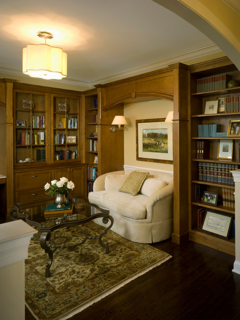 Elegant Library Office Traditional Home Office