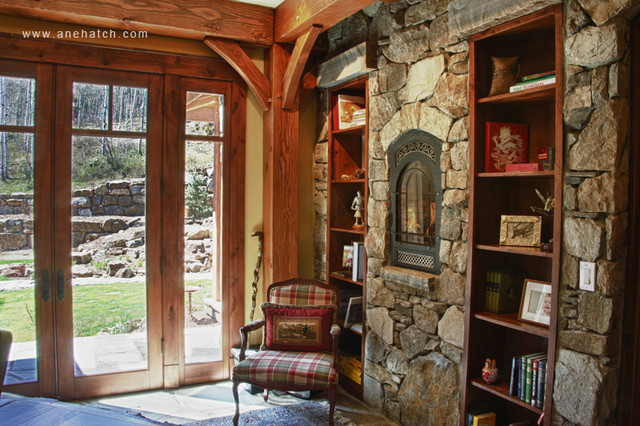 Elegant Timberframe traditional-home-office