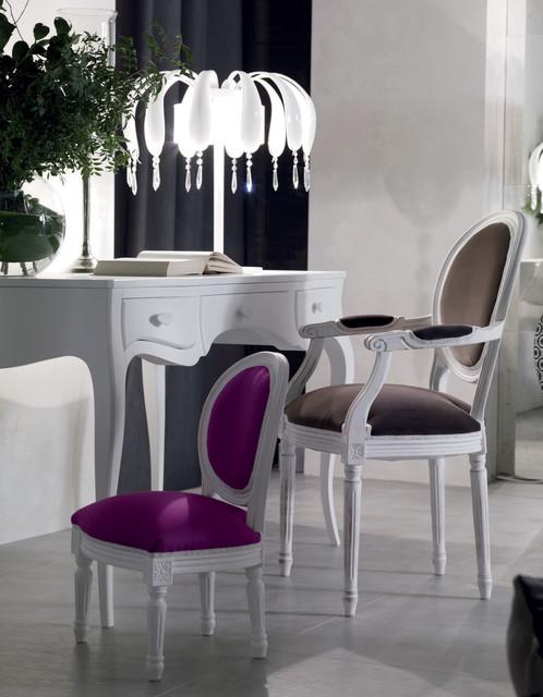 Elegant white writing desk by Moda contemporary-home-office