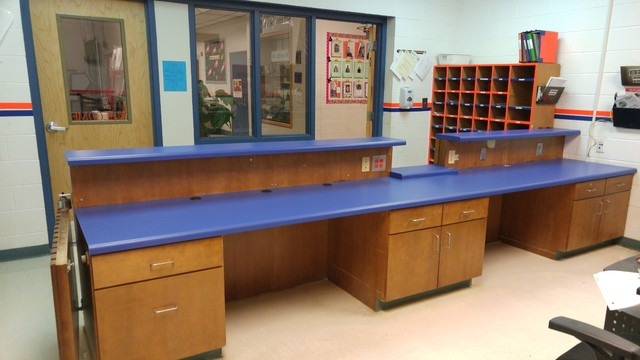 Elementary School Office Counter Tops With Custom Cutout Traditional Home  Office