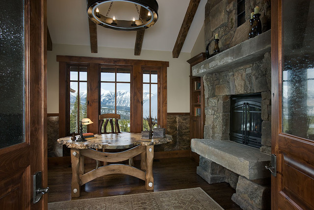 Elk Ridge Lodge Interior traditional-home-office