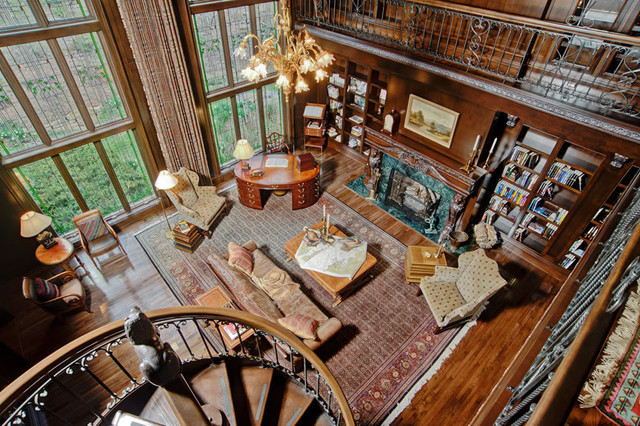 [Habitation] Manoir McKinnon Traditional-home-office-and-library