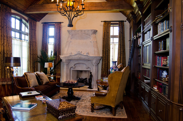 English tudor estate traditional home office oklahoma city by brent gibson classic home Tudor home interior design ideas