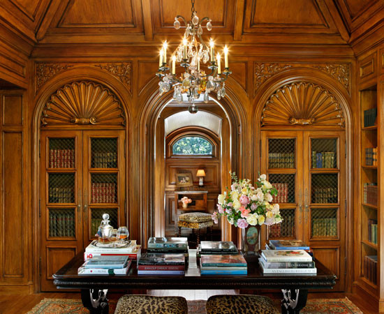 English Tudor Traditional Home Office San Francisco