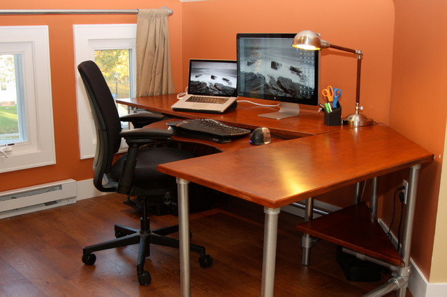 Ergonomic Computer Desk Contemporary Home Office And Library