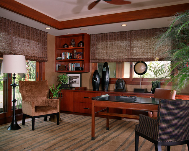 ethnic tropical tropical home office hawaii by willman