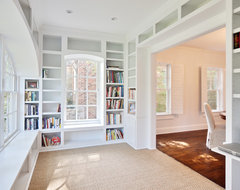 Ideas specifically showing offices in enclosed porch type areas to get