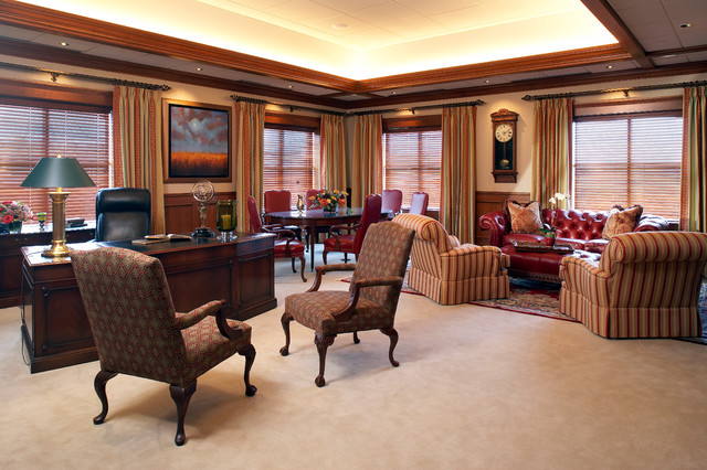 Executive Office Traditional Home Minneapolis By