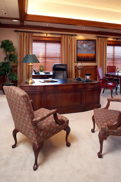 Executive office traditional home office minneapolis Home office interior design pictures