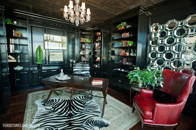 Executive Apartment Eclectic Home Office