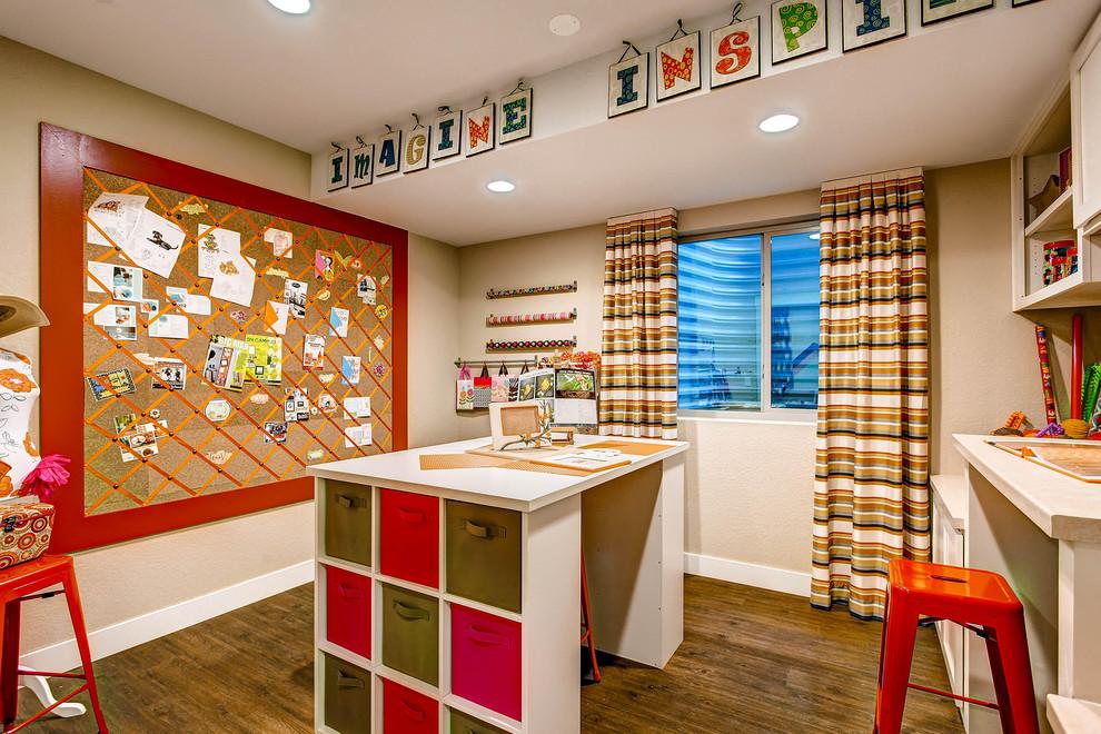 Example of a classic craft room design in Denver