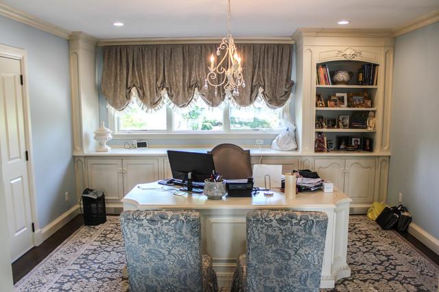 extravagance on the river romantique bureau domicile new york par baine contracting inc. Black Bedroom Furniture Sets. Home Design Ideas