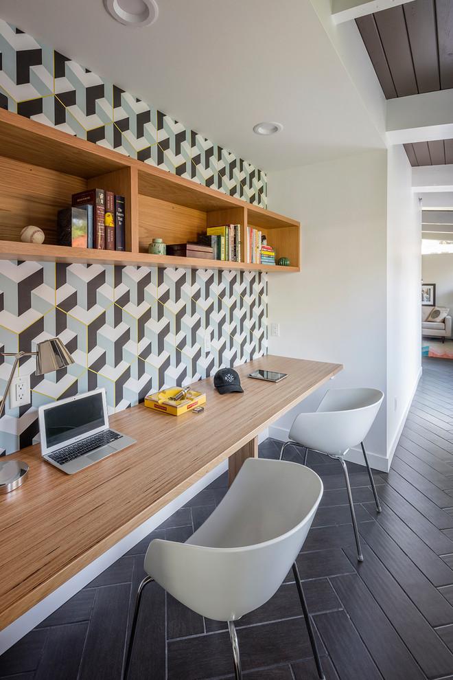 fairway mid century remodel midcentury home office