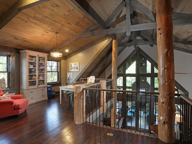 arts crafts home office. Falling Water Lodge Arts-and-crafts-home-office-and-library Arts Crafts Home Office A