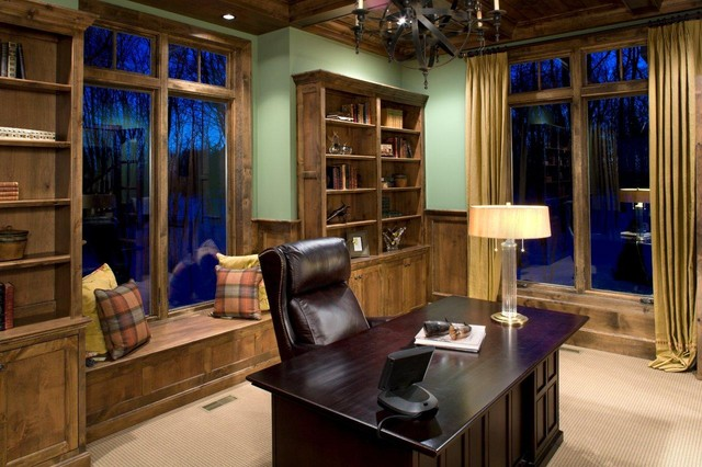 Family Room traditional-home-office