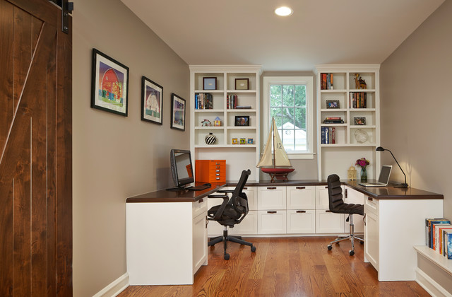 Beau Family Study Traditional Home Office