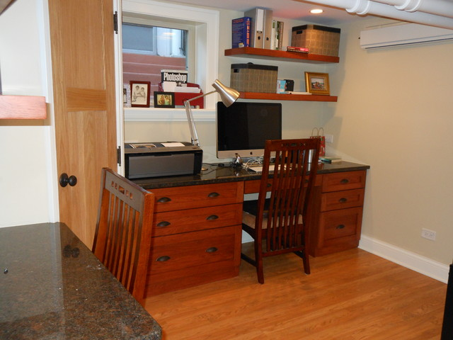 Family work stations, Oak Park, IL eclectic-home-office