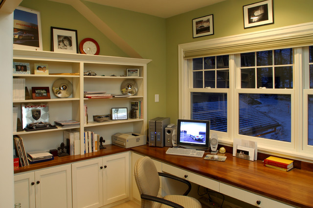 Farmhouse Cottage Office Study traditional home office