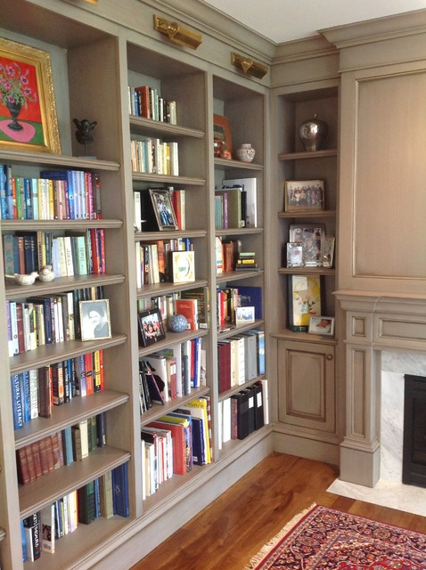 Faux painted cabinets -- Library - Traditional - Home Office - Denver - by Passionate Home