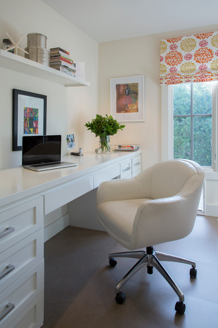 Inspiration for a farmhouse home office remodel in San Francisco