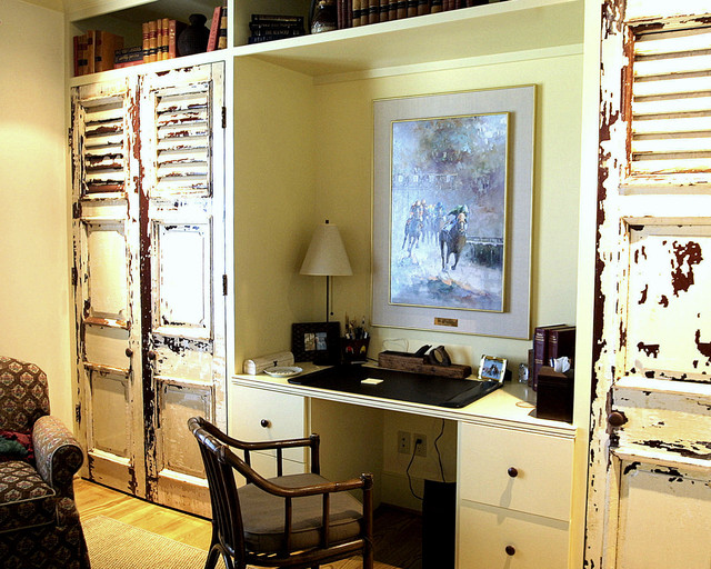 Fantastic Builtin Bookshelves In This Home Office Upgrade With Desk Area And