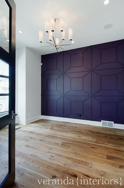 Feature wall in the study contemporary-home-office
