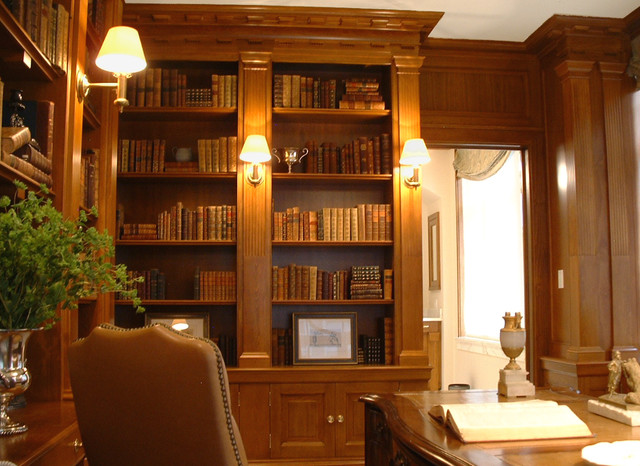 Federal Style Boston - Traditional - Home Office - boston - by NLD Design - Architecture & Interiors