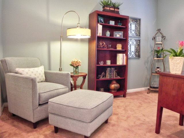 Feminine & Functional Home Office transitional-home-office